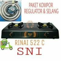 kompor rinnai ri-522c+selang paket win gas meteran bisa gojek