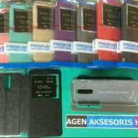 Flip Cover Lenovo Vibe C A2020 Leather Case / Sarung HP