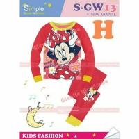 Harga stelan piyama anak impor sgw13 sgw 13 h minnie mouse teen | Pembandingharga.com