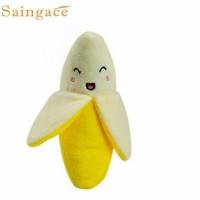 Mainan Anjing Kucing Pisang Dog Toys Bunyi Lucu Gigitan banana pets