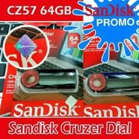 Jual Flashdisk Sandisk 64GB Cruzer Dial 64GB CZ57 Original Garansi Resmi Murah