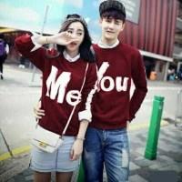 CP YOU AND ME /2W GESER GAMBAR KEKIRI/kaos/baju/atasan/couple/murah