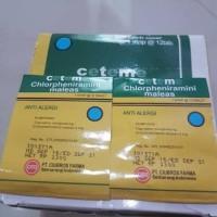 obat anti alergi CTM / ce te m