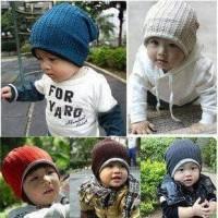 Mj hat / topi kupluk anak dan bayi / kupluk bolak balik