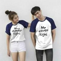 CP NEVER/2W GESER GAMBAR KEKIRI/kaos/baju/atasan/kemeja/couple/murah