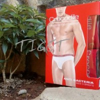 Celana dalam underwear karet boxer pria cowok laki-laki crocodile