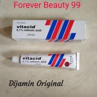 Vitacid 0,1% Cream / tretinoin 0.1 % krim jerawat / komedo