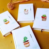 Jual Buku Catatan / Fancy Notebook / Agenda HARD COVER - PLANTS 2 Murah