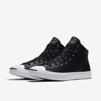 Sepatu Converse Jack Purcell Leather Mid Black 155718C Original