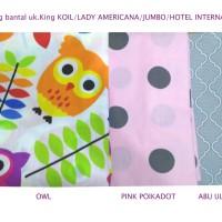 Sarung Bantal 100%Lady americana/king koil/hotel besar