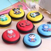 Case Earphone Mini Model Superhero bisa Kabel Charger d Limited
