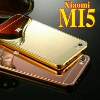 Jual FREE TEMPERED GLASS XIAOMI MI5 MI 5 CASING MIRROR ALUMUNIUM BACK CASE Murah
