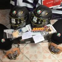 Helm AGV GPR Pista Anniversary size XL dan XXL limited with gold visor
