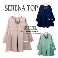 Baju Atasan Blouse Tunik Wanita Baju Muslim Blus Muslim Serena Top