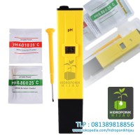 Digital pH Meter ATC (Pen Type PH-009) + Bubuk Kalibrasi