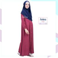 EXCLUSIVE Gamis Amima Aufa Dress Maroon baju gamis wanita busana musl