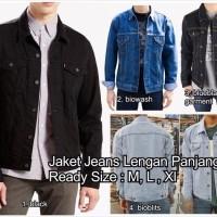 Jaket jeans cowo cowok pria man model levis tebal denim jean oke pun