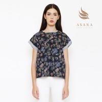 Asana Kalianda Woman Blouse Batik Wanita - Black