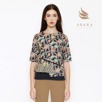 Asana Indihiang Woman Blouse Batik Wanita - Black