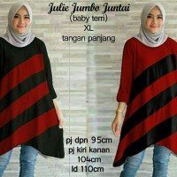 Atasan Blouse Tunik SS #50699julie jumbo juntai fit XL+