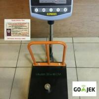 harga Timbangan Duduk / Timbangan Lantai / Bench Scale 100kg + Pagar Tokopedia.com