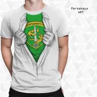 Jual Kaos 3D Bola Persebaya Surabaya Unik Limited Edition Bonek Mania Murah