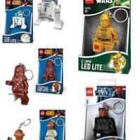 MURAH ORI Lego Keychain LED Star Wars Key Chain r2d2 Darth Maul C3PO