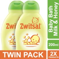 Zwitsal Baby Bath Natural Dengan Milk & Honey - 200ml - Twin Pack