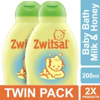 Zwitsal Baby Bath 2in1 Hair&Body Natural 200ml - Twin Pack