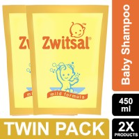Zwitsal Baby Shampoo Classic Pouch 450ml - Twin Pack
