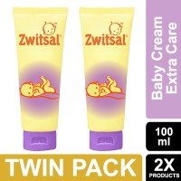Zwitsal Baby Cream Extra Care With Zinc 100ml - Twin Pack