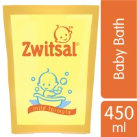 Zwitsal Baby Bath Classic Pouch 450ml - Twin Pack