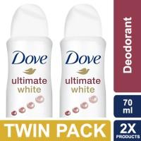 Dove Deodorant Spray Ultimate White 70ml - Twin Pack
