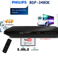 Jual Philips Bluray DVD player BDP3480K sln pioneer denon marantz sony sams Murah