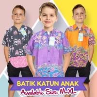Kemeja / Hem Batik Anak Laki-laki Lengan Pendek (HKA001) Batik Alhadi
