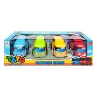 TAYO THE LITTLE BUS SET 4PCS - GARAGE GAME - MAINAN MOBIL - MOBILAN