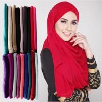 Hijab (Pashmina, Kerudung, Jilbab Katun Polos Aneka Warna Murah)