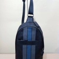 Tas Selempang Cowok Coach Original / Men Sling Pack Bag Polgan Black