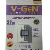 MicroSD V-GeN Hyper 32GB Class 10 98MB/S + Adapter (Memory HP VGEN)