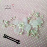 Aksesoris Hairpiece Tiara Rambut Sanggul Pesta Wedding l Lenka ARM007