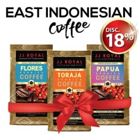 "JJ Royal Coffee ""Bundling East Indonesian"" Flores+ Toraja+ Papua 100gr"