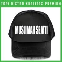 topi MUSLIMAH SEJATI Trucker Baseball Snapback TMB781 Distro