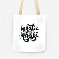 [MEDIUM] Tas kanvas tote bag Islam Ngaji Motif Lucu Full Print Dakwah