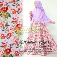 gamis syari abaya katun jepang bunga cradena ori naura Berkualitas
