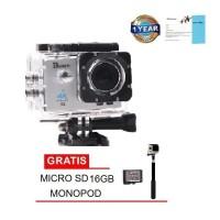 "Bcare BCam X-3 16 MPSonySensor 4K-2""+Micro SD 16GB C10+Tongsis - Hitam"