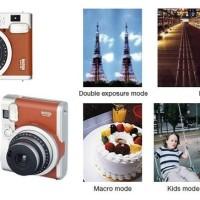 Kamera Fujifilm Instax Polaroid Mini 90 Neo Classic (Brown) kamera ,