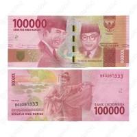 Jual INDONESIA Rp. 100.000 RUPIAH 2016 'Ir SOEKARNO & Drs. MOHAMMAD HATTA' Murah