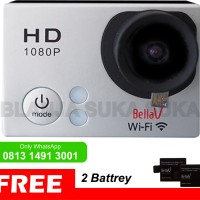 ActionCam W8 ED 1080P WiFi GoPro Xiaomi BriCa ActionCam Like - SILVER