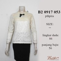 Blus broklat lpj casual/fashion wanita terbaru/baju cantik/ b20917053