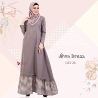 EKSKLUSIF Gamis Valisha Jihan Dress Stone Ash baju gamis wanita busan